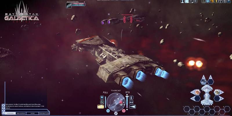 BattleStar Galactica Online - Gameplay