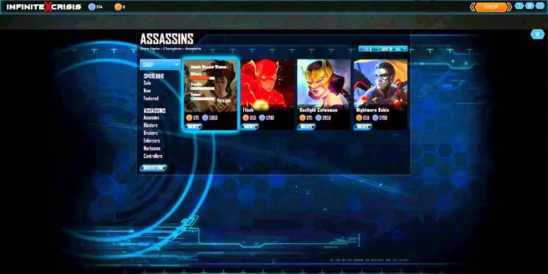 """Infinite Crisis #5 - """"Shop e personaggi"""""""