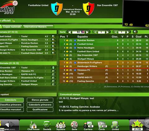 Goal United in-game screenshot 6