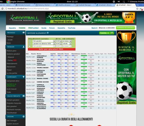 oFootball in-game screenshot 2