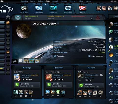 Ogame in-game screenshot 4