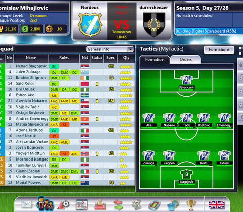 Top Eleven in-game screenshot 1